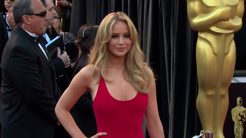 Hollywood, CA - FEBRUARY 27, 2011: Jennifer Lawrence walks the red carpet at the Academy Awards 2011 held at the Kodak Theatre