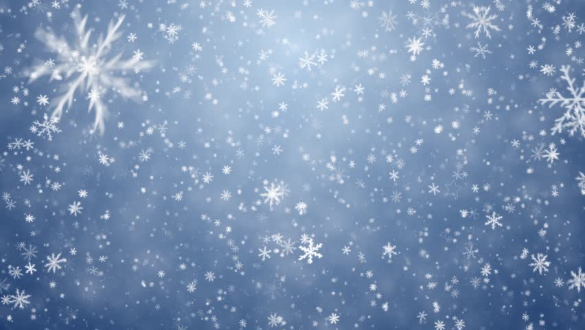 Falling snowflakes, snow background - HD stock video clip