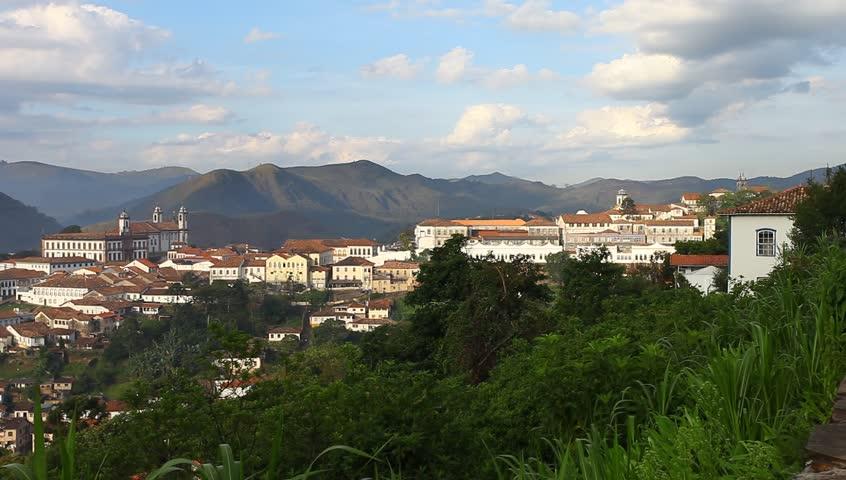 Ouro Preto in Minas Gerais, Brazil - HD stock video clip