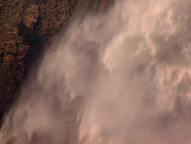 Medium close up of Takkakaw waterfalls in Yoho National Park Canada - SD stock video clip