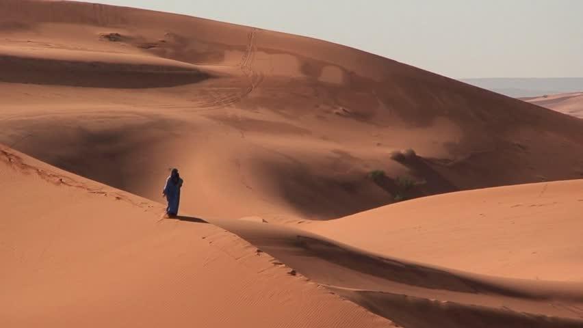 Berber Walks in Sahara Desert