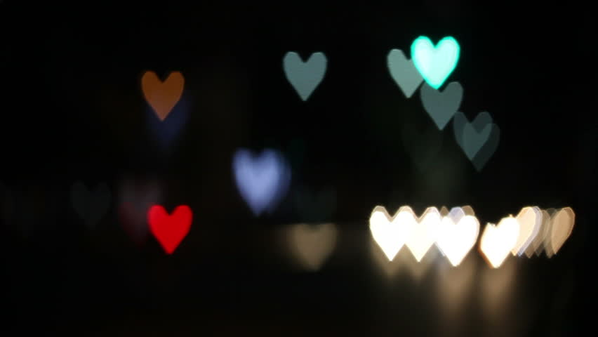 Heart shaped blurred lights. Valentine day | Shutterstock HD Video #3269102