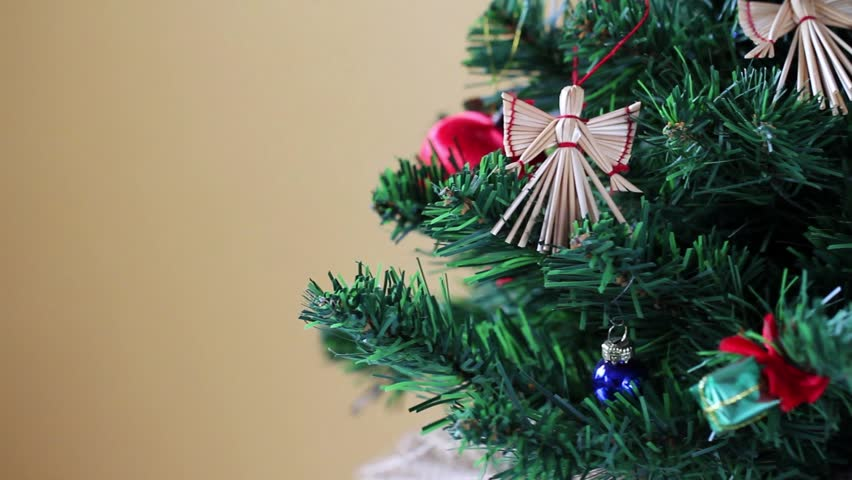 Closeup of Christmas tree decorations | Shutterstock HD Video #3276824