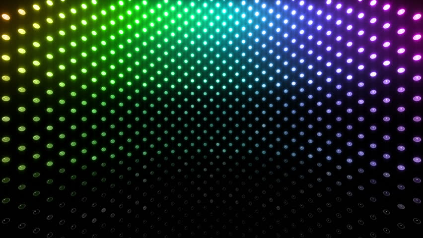 Led Background Wall Design : Led lights effect background loop stock footage