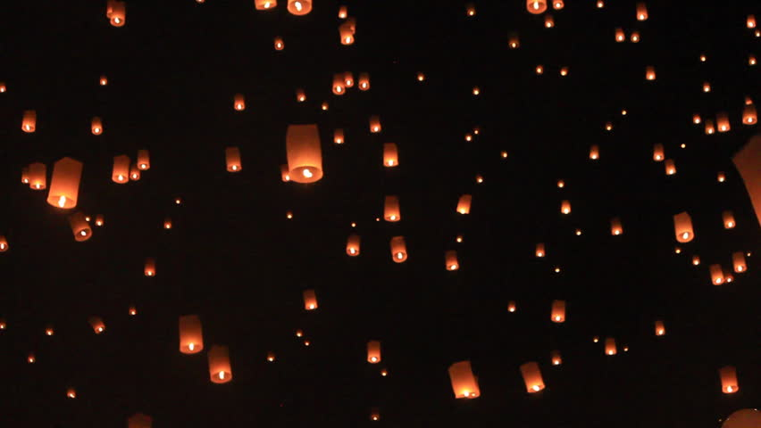 Flying lantern yeepang festival | Shutterstock HD Video #3293015