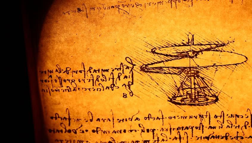 Leonardo's Da Vinci engineering drawing from 1503