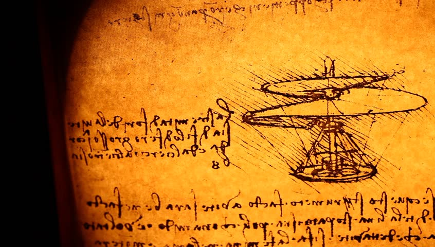 Leonardo's Da Vinci engineering drawing from 1503