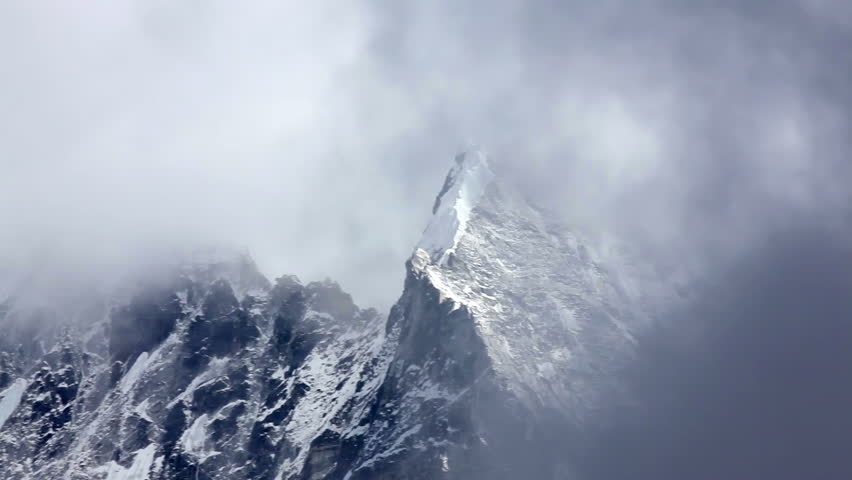 Perfect Snow Storm Khumbu Himalaya View On Mountain Mt Everest Before Snowstorm Timelapse Intended Ideas
