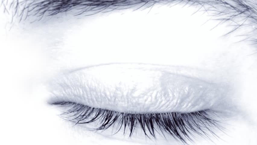 Male eye close-up, HD