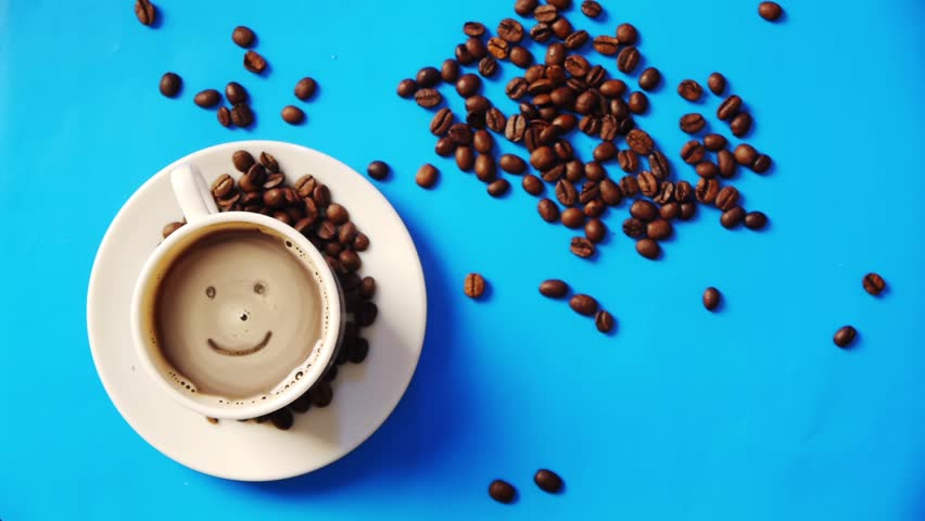 smile in the cup of coffee