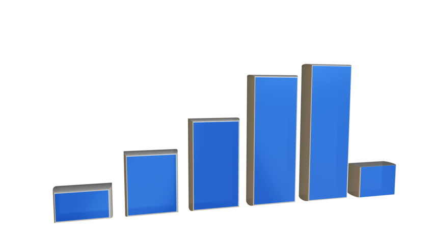 Rising business chart graph - HD stock footage clip