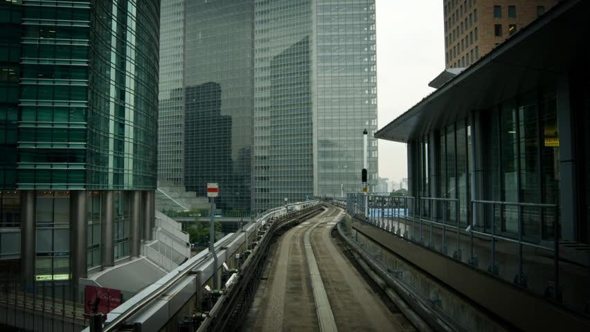 POV Tokyo tram timelapse