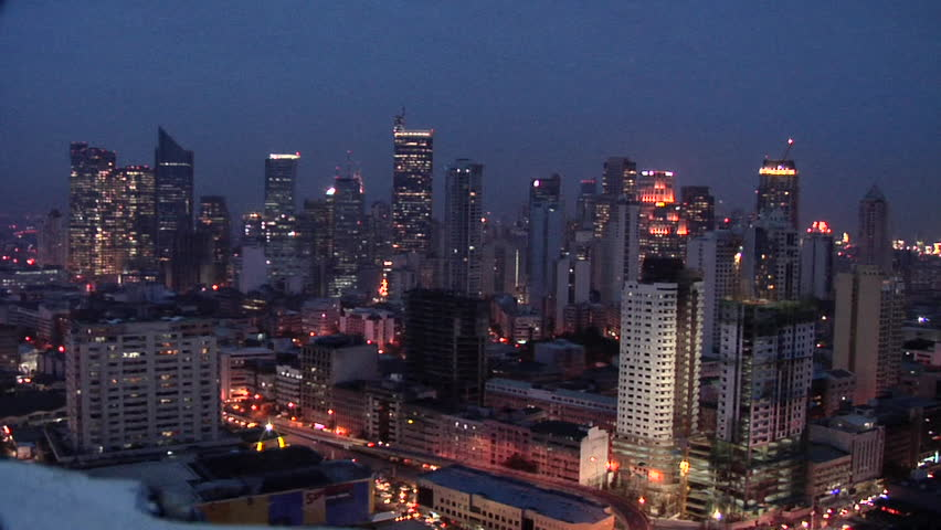 Elevated View of the Skyline of Makati, looking North, Philippines