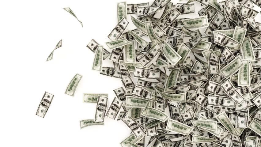 dollar bills falling on - photo #44
