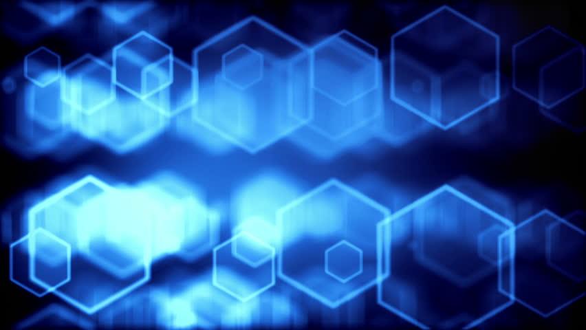 High quality digital background animation, blue version