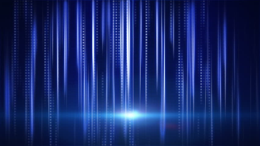 blue stripes and squares tech background loop - HD stock video clip