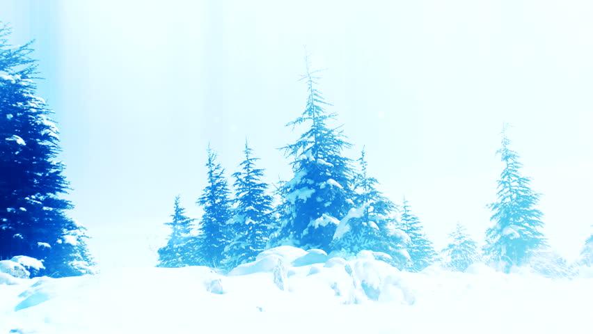Evening Snow forest | Shutterstock HD Video #3324650