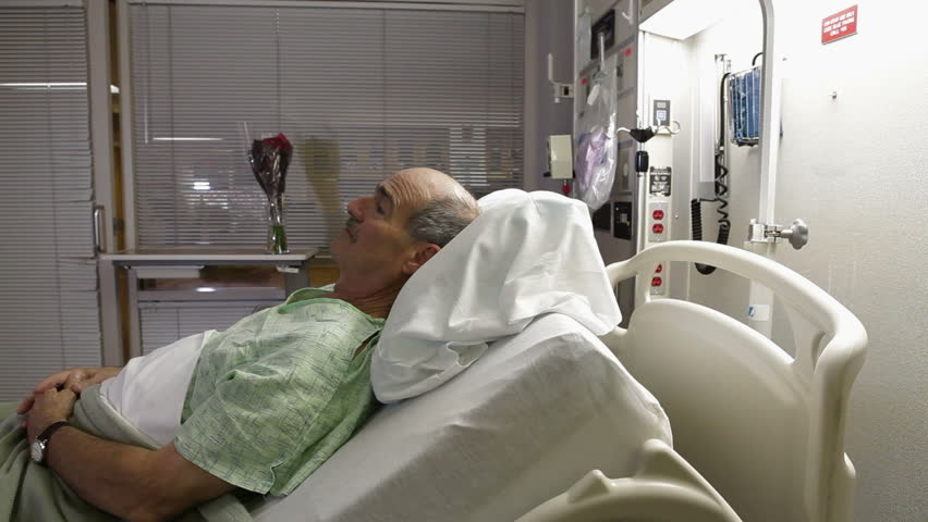 man sick in hospital bed stock footage video 3329063