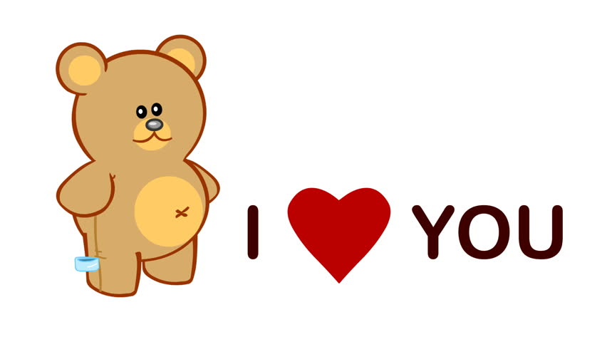 cute Love Wallpaper Animated : High Definition. cute Love Video-card With cartoon Animation Of A Teddy Bear And