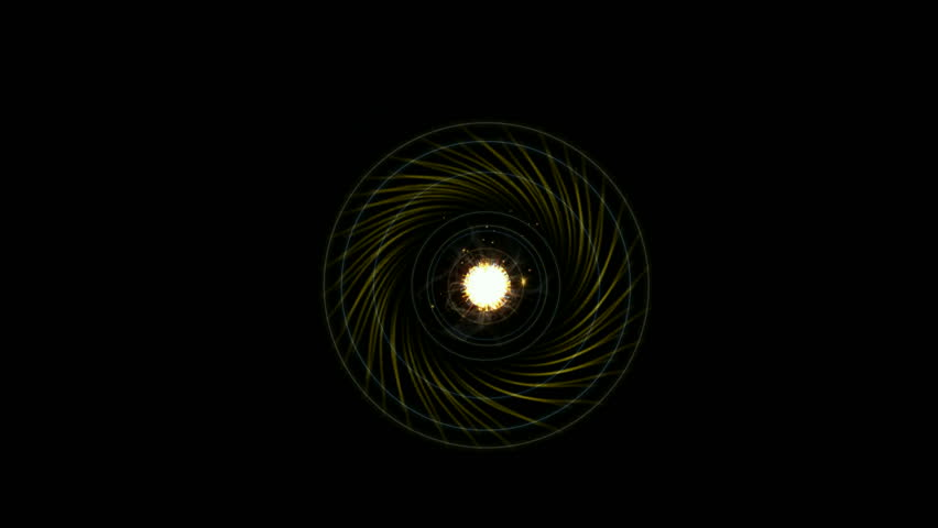 explosion rays light and roman numerals from electric tunnel hole,starburst magnetic fields in space,energy fiber optic cable and pupil. - HD stock footage clip
