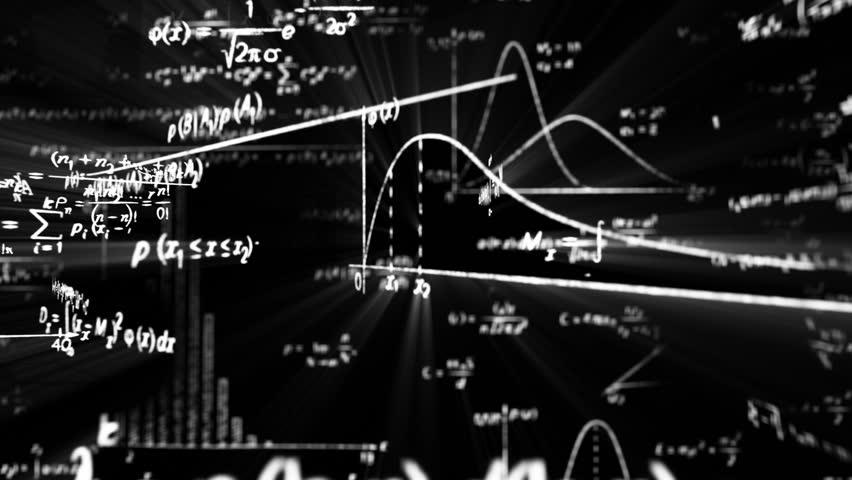 camera flight in maths world seamless loop...