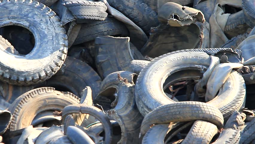 Shredded Car Tires Pile For Recycling. Close-up, Defocus. Stock Footage Video 8670661 - Shutterstock