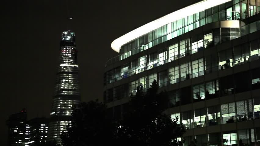 Buildings at night in London   Shutterstock HD Video #3382853