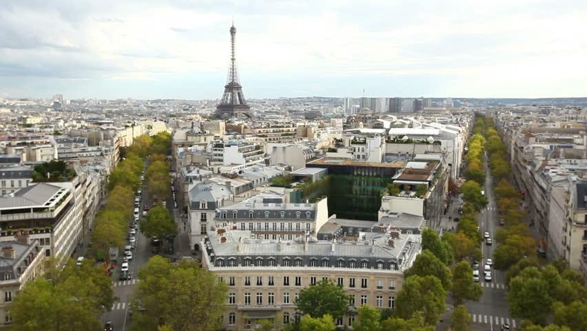View of Paris from Arc de Triomphe | Shutterstock HD Video #3393293