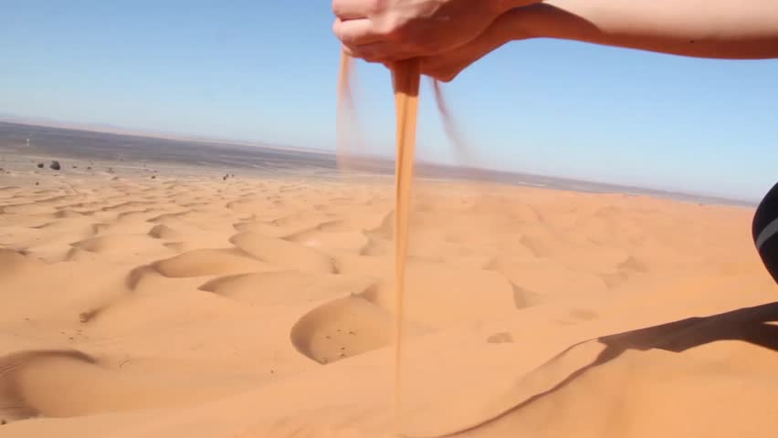 Falling Sand Out Of Hand Stock Footage Video 3399161 ...