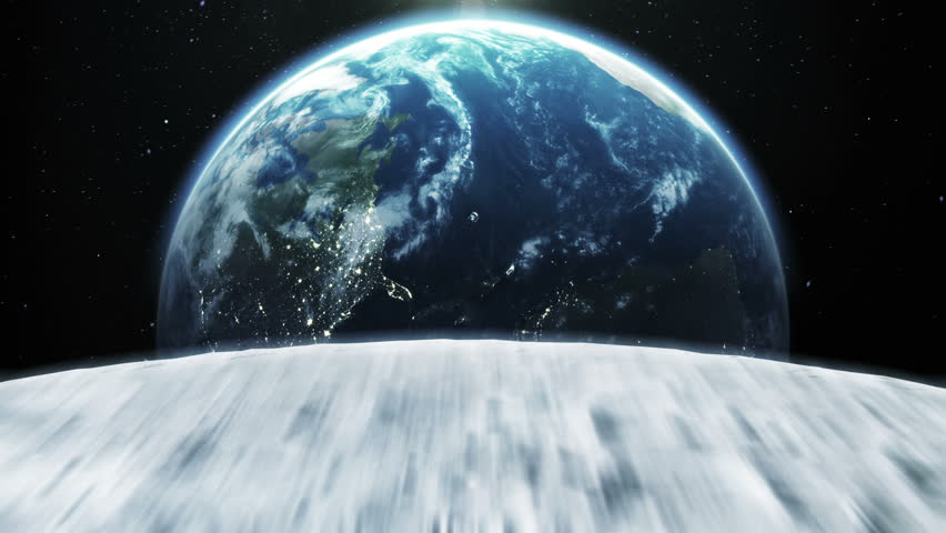 Beautiful flight through space to the Earth. HD 1080.   Shutterstock HD Video #3399314