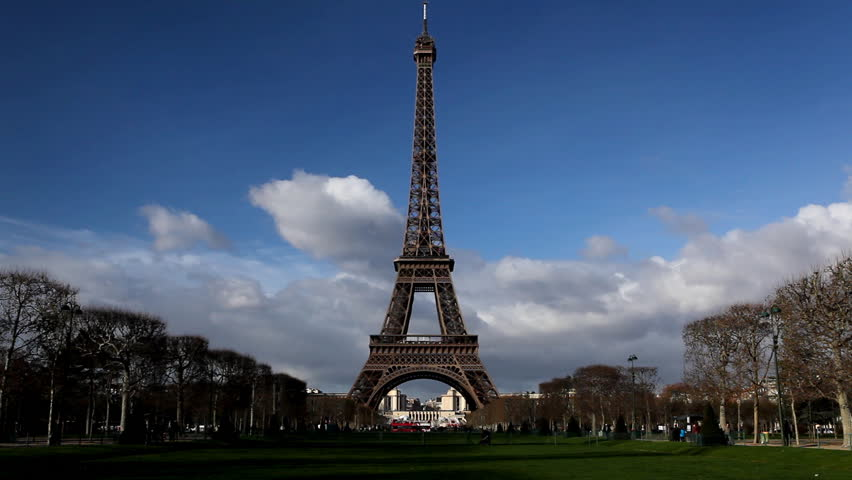 Eiffel Tower in Paris, Champ de Mars, France, Europe | Shutterstock HD Video #3404129