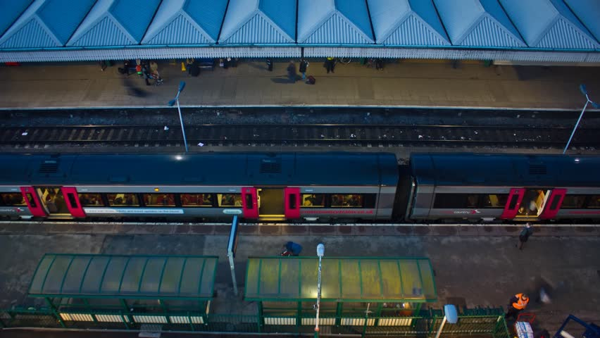 Train Station Timelapse From Above