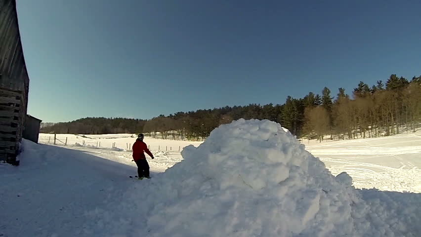 Skier Doing Extreme Frontflip