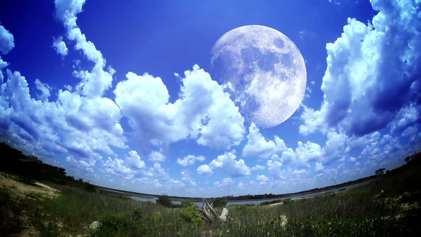 Stylized time lapse look of the moon. | Shutterstock HD Video #3419564