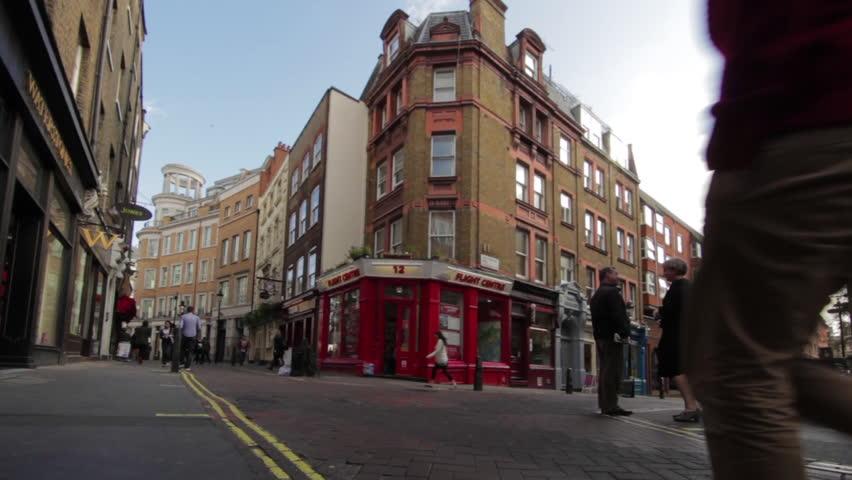 LONDON - OCTOBER 7, 2011: A corner of a narrow street in London
