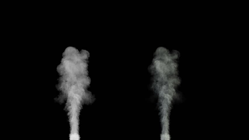 blowing steam or smoke isolated on black background with alpha (1080p high definition, seamless loop)  - HD stock video clip