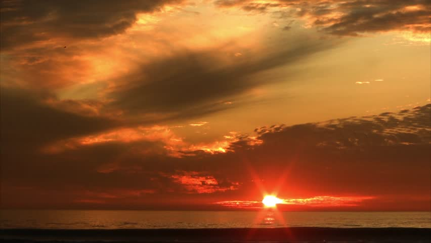 Sunset in Santa Monica Beach