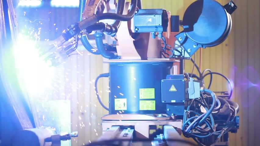 Welding robot at work