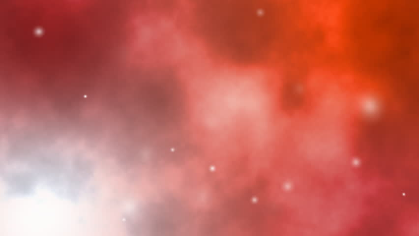 soft red galaxy background with twinkling stars moving in