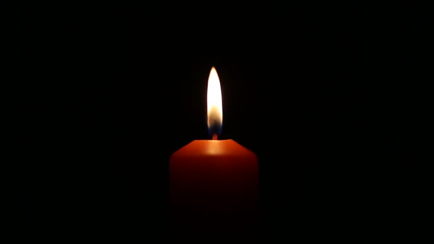 Movement Of Candle Flame In The Dark Background Stock ...