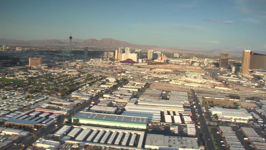 Aerial shot of Las Vegas near strip daytime | Shutterstock HD Video #3579260