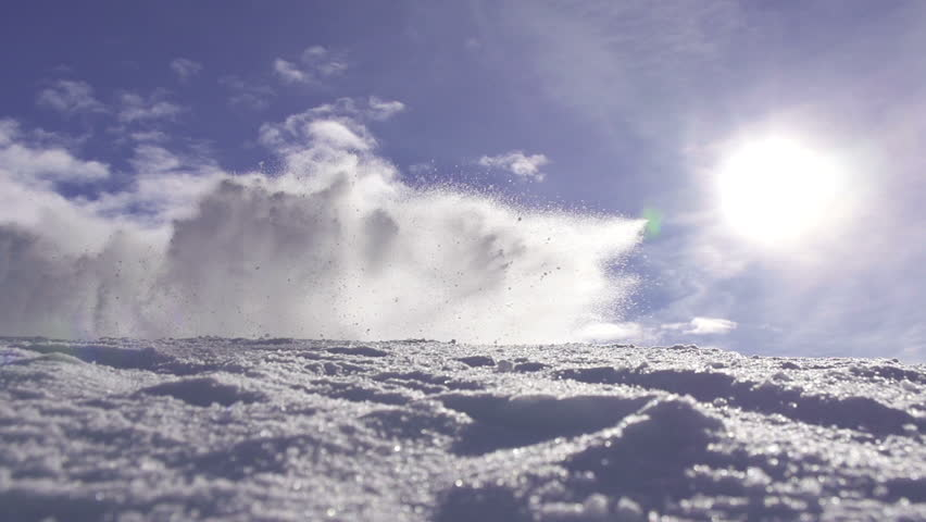 SLOW MOTION: Snow avalanche