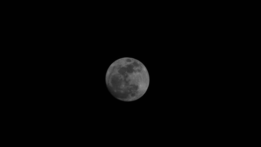 Lunar Super Moon time-lapse Night Sky March