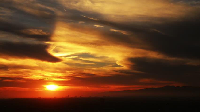 Los Angeles Sunset 04 Timelapse Santa Monica - HD stock video clip