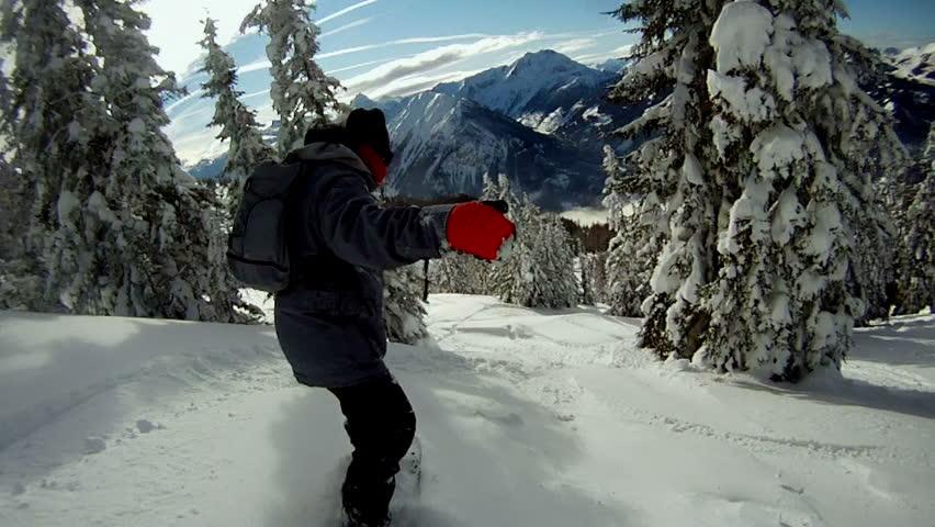 Snowboarding on fresh snow | Shutterstock HD Video #3598961