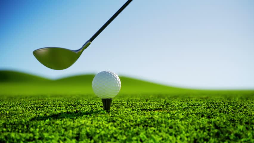 Slow Motion Golf strike. - HD stock footage clip