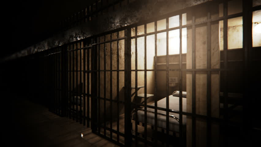 Prison cells infinite loop animation. - HD stock footage clip