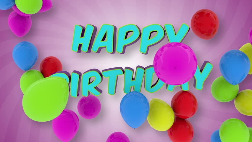 Happy Birthday, 3d Animation Stock Footage Video 2886508