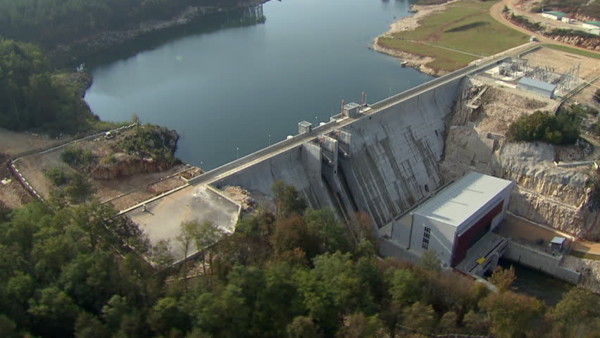 Aerial shot of a Hydropower Plant