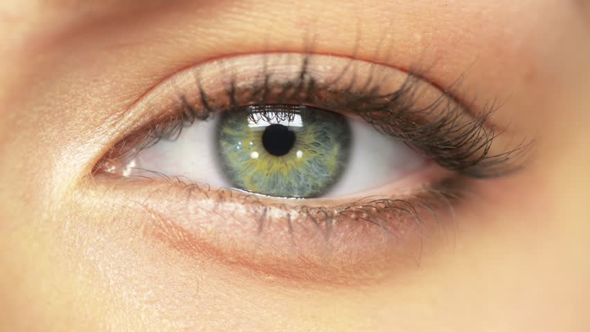 Macro Close-up eye Beauty blinking - HD stock video clip
